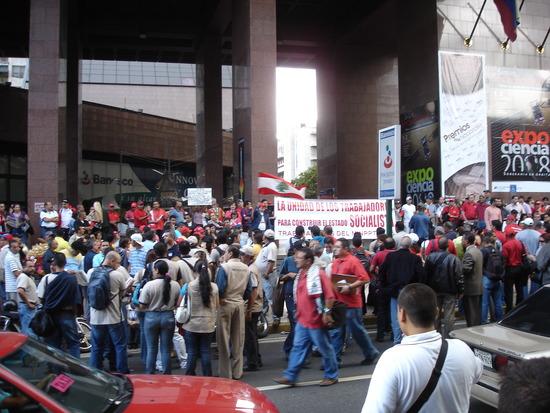 Jamesandjulie at a rally in Caracas