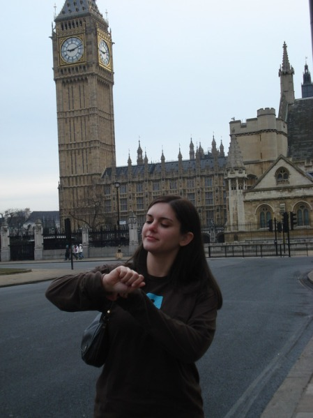 Julie1227 in front of Big Ben