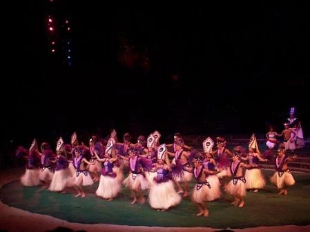 Luau dancers in Waikiki, Hawaii
