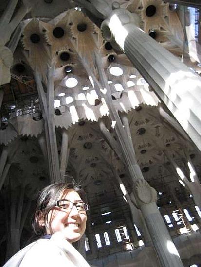 Saktophe inside La Sagrada Familia
