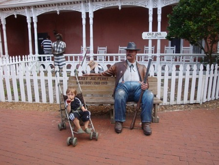 Steven meets the sheriff in St. Augustine