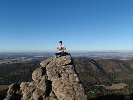 Slpbls on top of a mountain in The Grampians