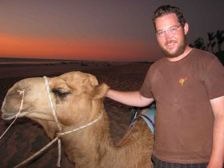 Sunset in Broome with camel