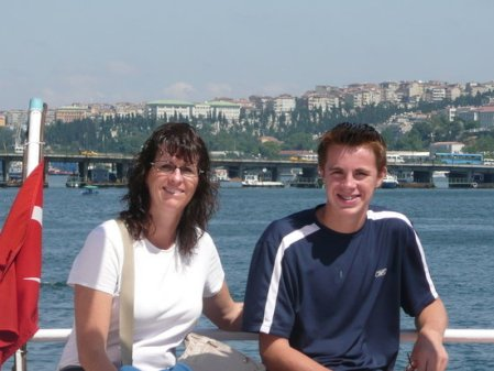 Sproutfamily cruising on the Bosphorus Strait