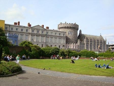 Outside Dublin Castle