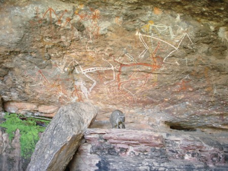 Aboriginal rock art in Kakadu