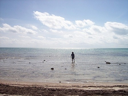 Andy testing out the water in the Florida Keys