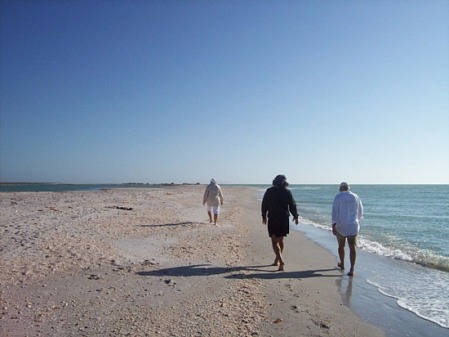 Walking on the beach in Englewood, Florida