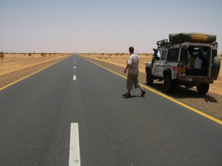Bonthorn on the road in Sudan