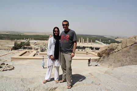 Jimsim at Persepolis in Shiraz, Iran