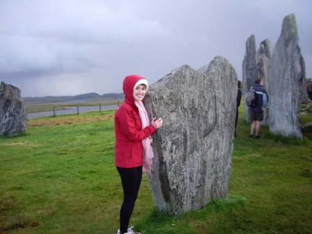 Hannahfoster with the standing stones in Callandish, Scotland