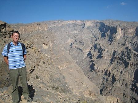 Tobyh on the edge of Wadi Ghul in Oman