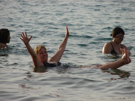 Rose of Boydandrose floating in the Dead Sea