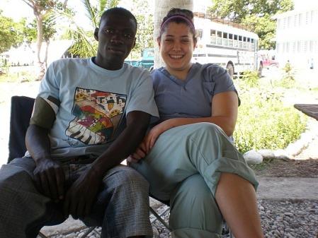 Mim301 on her first day volunteering in Haiti