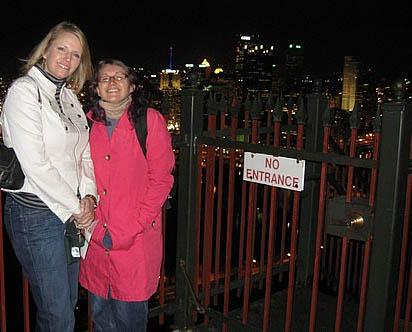 Allison and I at the Duquesne Incline outlook at the top of Mt. Washington