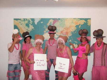 Nat_yeo and her friends dressed up for a party in Cape Town
