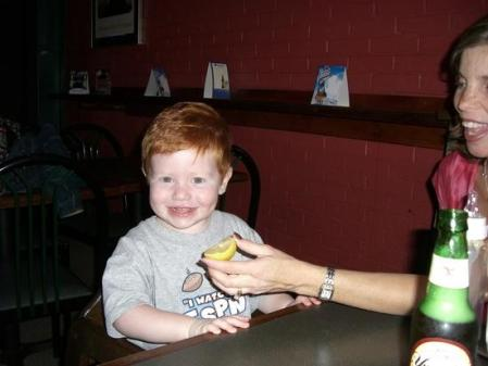 Crashhopper's friend's son, Andrew in Pittsburgh's South Side
